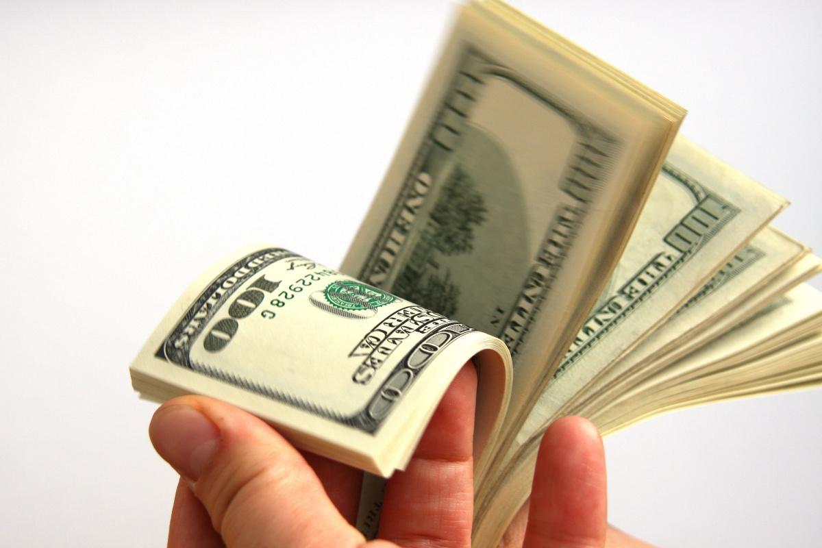 Веер из долларов