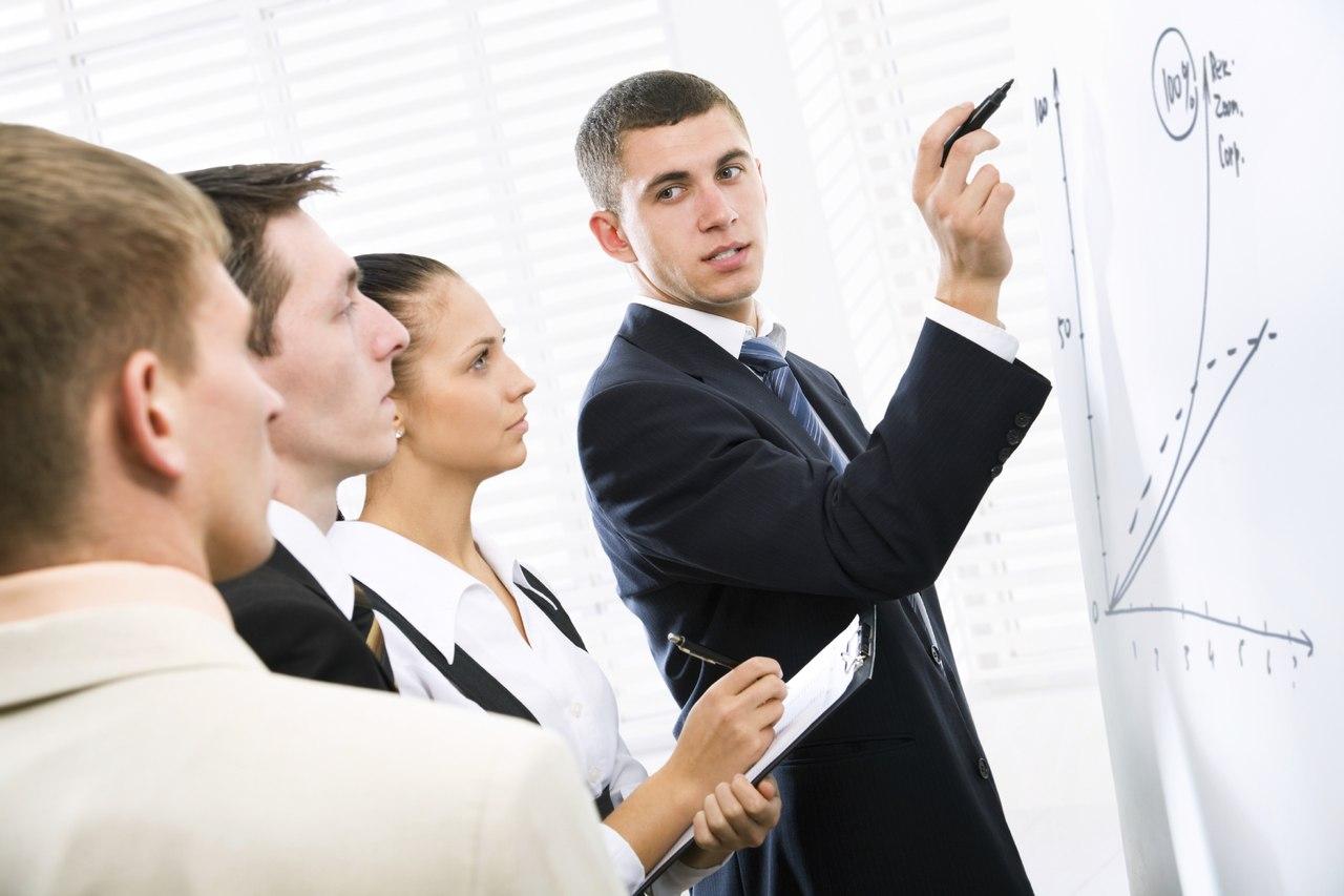 Открытка подручных, картинка бизнес тренер