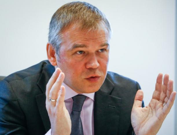 Russia's Deputy Central Bank Governor Pozdyshev gives interview in Moscow