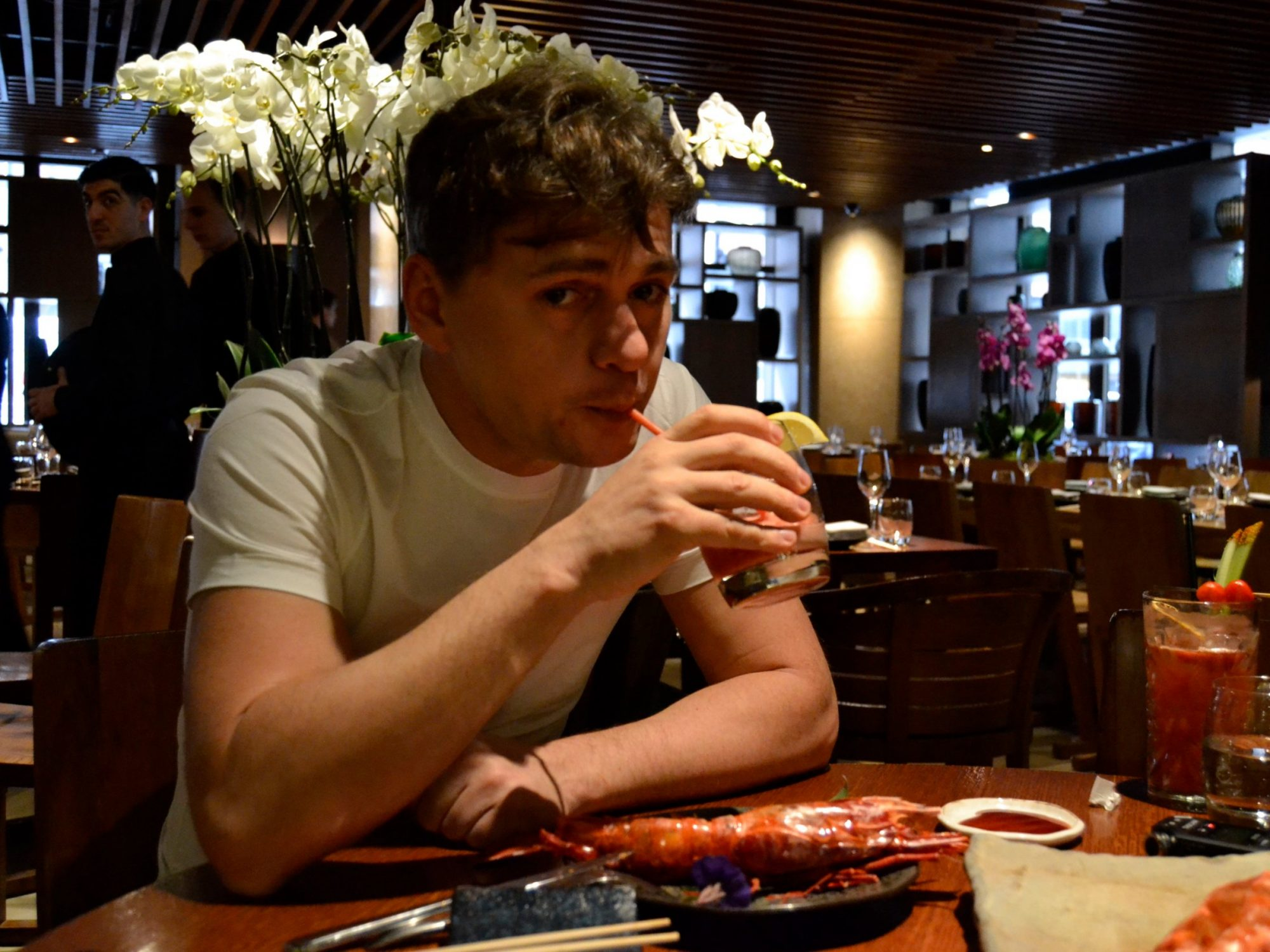 andrey drinking