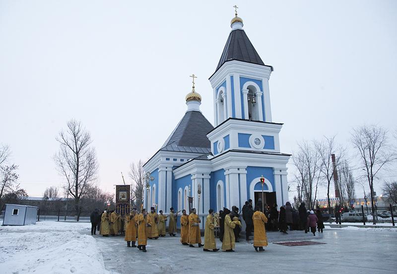 освящение церкви нечаянной радости (на креинге, ул брянская)