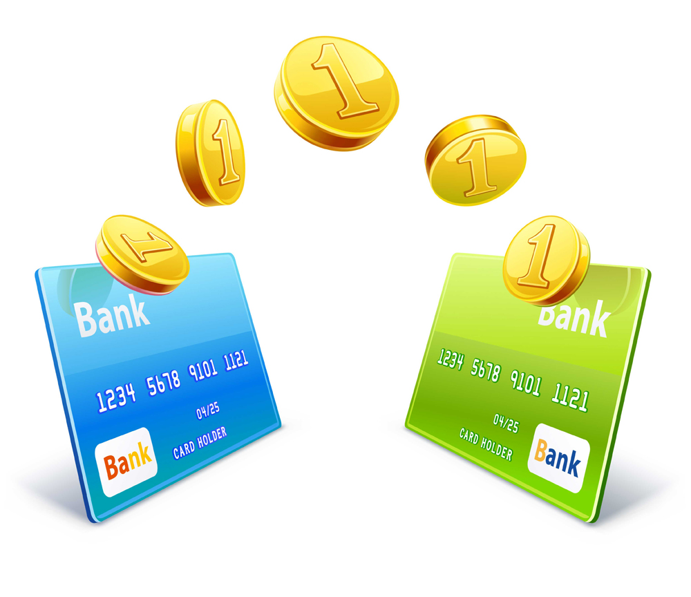 Coins transfer from card to card