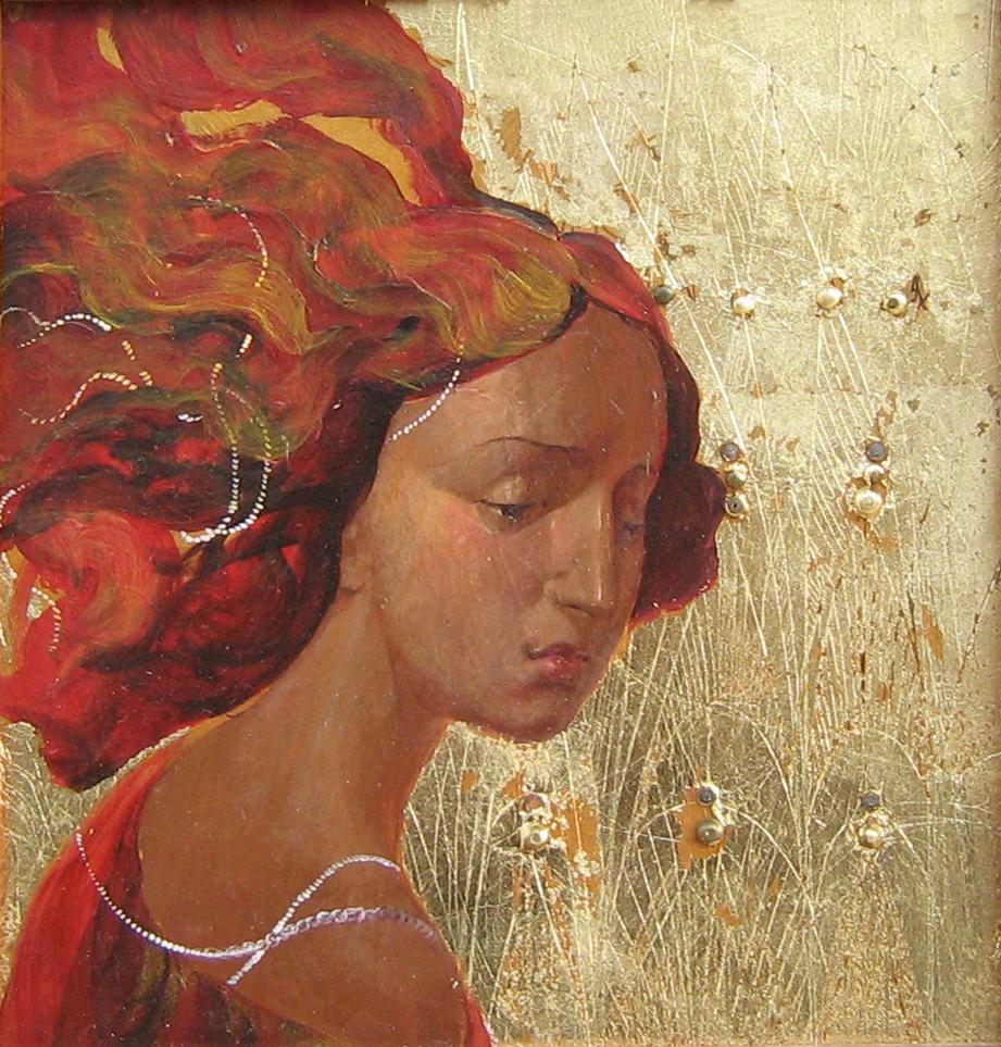 Девушка в жемчужном ожерелье дер.м. 22х21