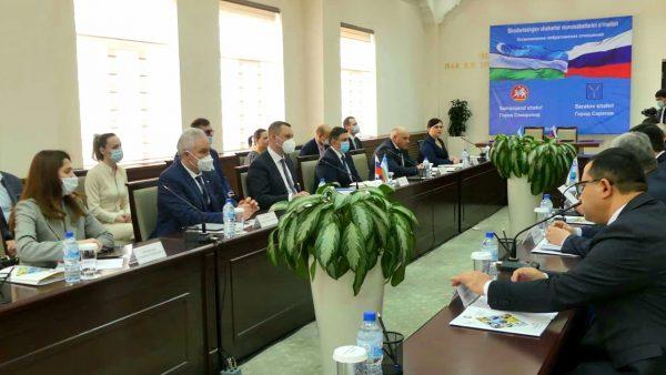 Бизнес-миссия в Республику Узбекистан: подписано соглашение о сотрудничестве между городами Самарканд и Саратов